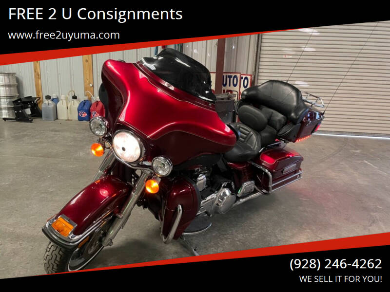 2008 Harley-Davidson Ultra Classic for sale at FREE 2 U Consignments in Yuma AZ