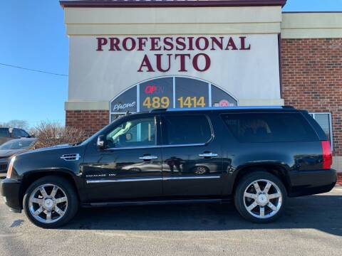 2010 Cadillac Escalade ESV for sale at Professional Auto Sales & Service in Fort Wayne IN