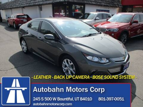 2017 Chevrolet Volt for sale at Autobahn Motors Corp in Bountiful UT