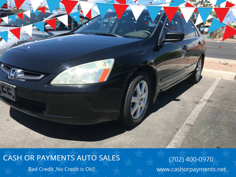 2005 Honda Accord for sale at CASH OR PAYMENTS AUTO SALES in Las Vegas NV