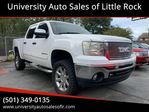 2011 GMC Sierra 1500 for sale at University Auto Sales of Little Rock in Little Rock AR