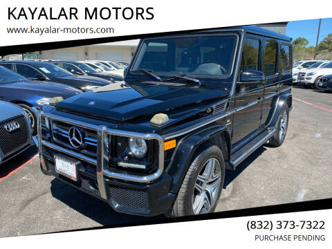 2013 Mercedes-Benz G-Class for sale at KAYALAR MOTORS in Houston TX