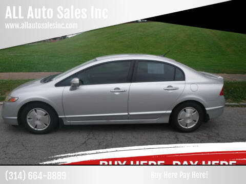 2008 Honda Civic for sale at ALL Auto Sales Inc in Saint Louis MO