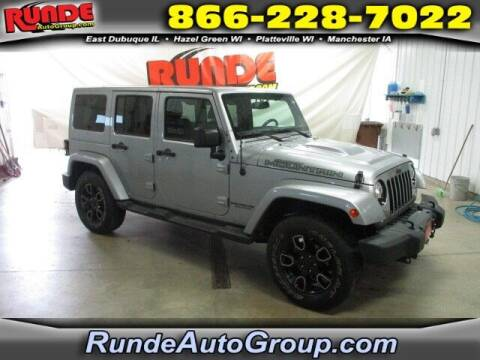 2017 Jeep Wrangler Unlimited for sale at Runde PreDriven in Hazel Green WI