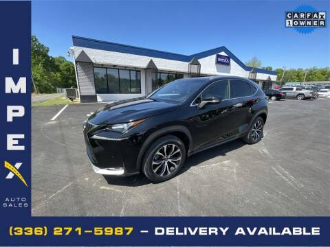 2017 Lexus NX 200t for sale at Impex Auto Sales in Greensboro NC