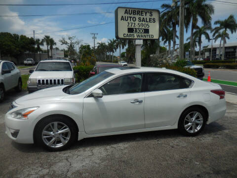 2013 Nissan Altima for sale at Aubrey's Auto Sales in Delray Beach FL