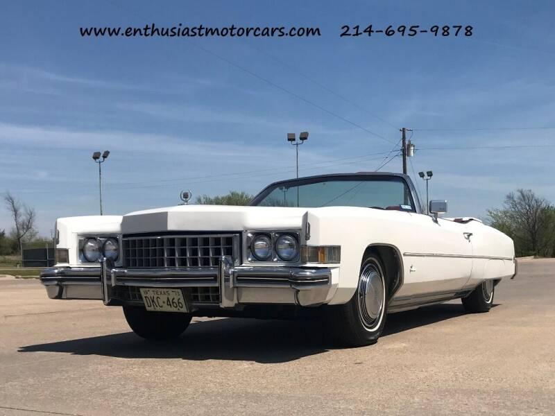 1973 Cadillac Eldorado for sale at Enthusiast Motorcars of Texas in Rowlett TX