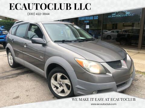 2003 Pontiac Vibe for sale at ECAUTOCLUB LLC in Kent OH