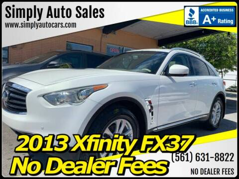 2013 Infiniti FX37 for sale at Simply Auto Sales in Palm Beach Gardens FL