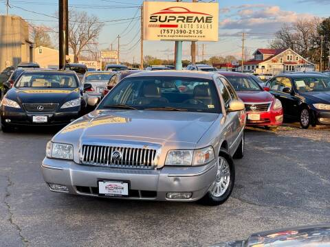2006 Mercury Grand Marquis for sale at Supreme Auto Sales in Chesapeake VA