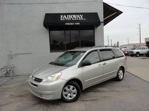 2005 Toyota Sienna for sale at FAIRWAY AUTO SALES, INC. in Melrose Park IL