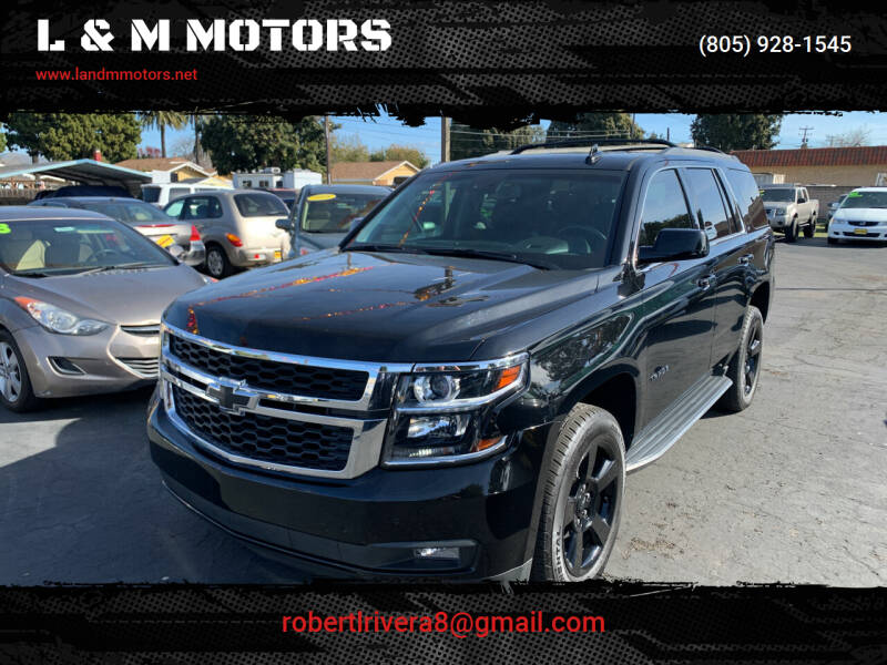 2018 Chevrolet Tahoe for sale at L & M MOTORS in Santa Maria CA