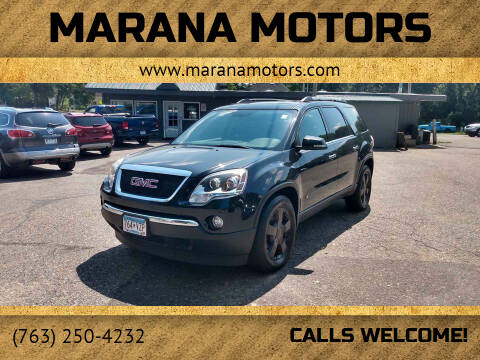 2010 GMC Acadia for sale at Marana Motors in Princeton MN