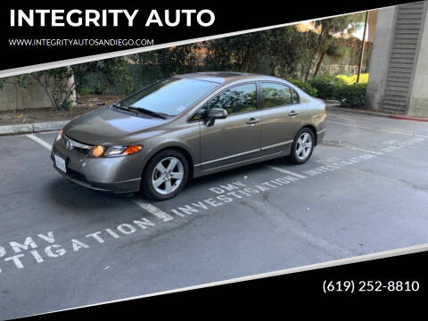 2006 Honda Civic for sale at INTEGRITY AUTO in San Diego CA