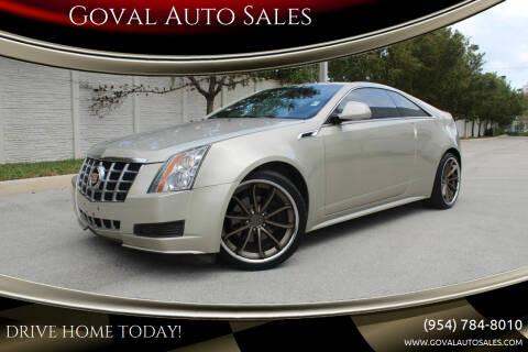 2013 Cadillac CTS for sale at Goval Auto Sales in Pompano Beach FL