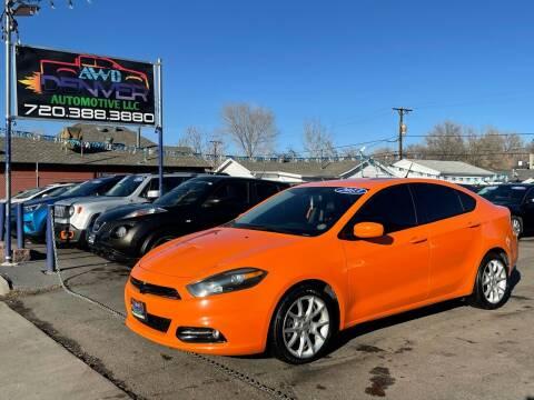 2013 Dodge Dart for sale at AWD Denver Automotive LLC in Englewood CO