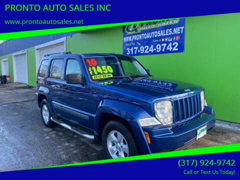 2010 Jeep Liberty for sale at PRONTO AUTO SALES INC in Indianapolis IN