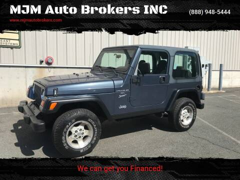 2001 Jeep Wrangler for sale at MJM Auto Brokers INC in Gloucester MA