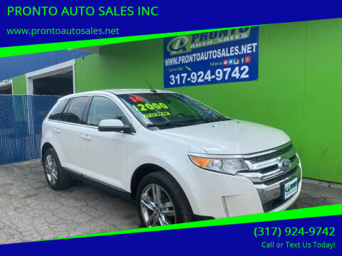 2014 Ford Edge for sale at PRONTO AUTO SALES INC in Indianapolis IN