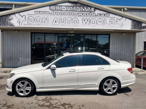 2010 Mercedes-Benz C-Class for sale at Don Auto World in Houston TX