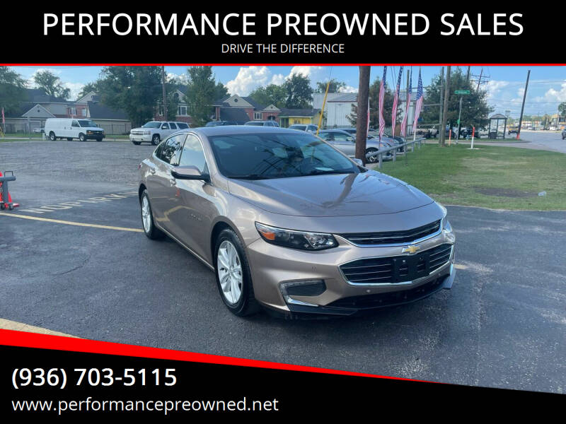 2018 Chevrolet Malibu for sale at PERFORMANCE PREOWNED SALES in Conroe TX