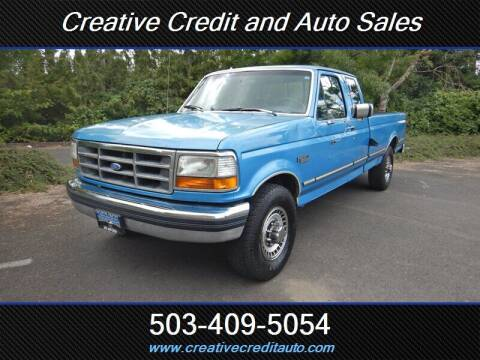 1993 Ford F-250 for sale at Creative Credit & Auto Sales in Salem OR