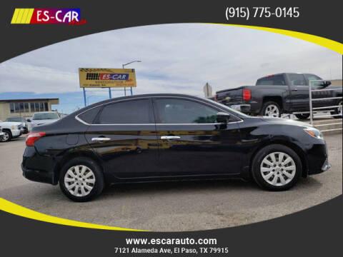 2017 Nissan Sentra for sale at Escar Auto in El Paso TX