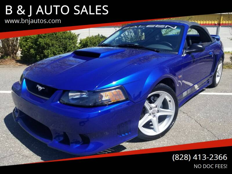 2004 Ford Mustang for sale at B & J AUTO SALES in Morganton NC