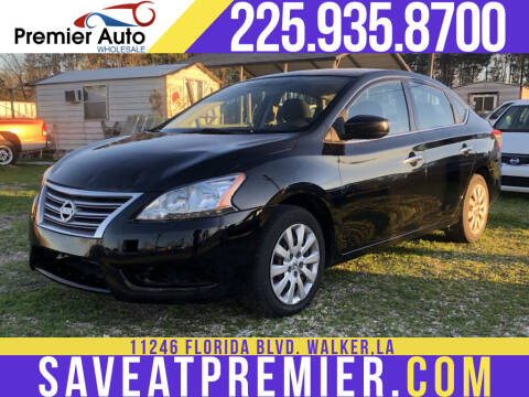 2014 Nissan Sentra for sale at Premier Auto Wholesale in Baton Rouge LA