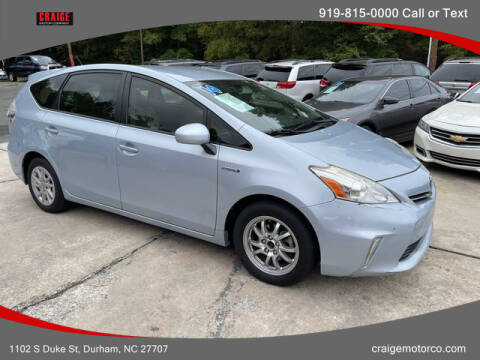 2014 Toyota Prius v for sale at CRAIGE MOTOR CO in Durham NC