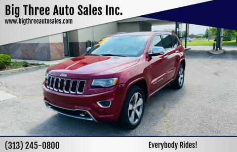 2014 Jeep Grand Cherokee for sale at Big Three Auto Sales Inc. in Detroit MI