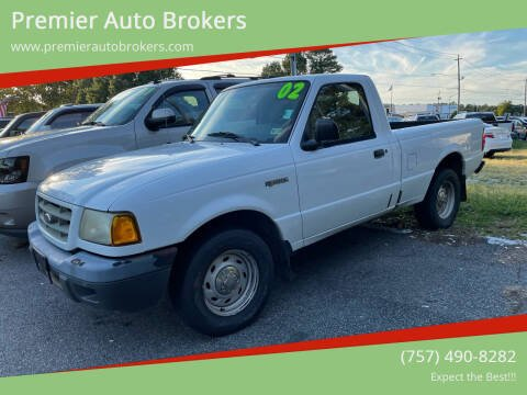 2002 Ford Ranger for sale at Premier Auto Brokers in Virginia Beach VA