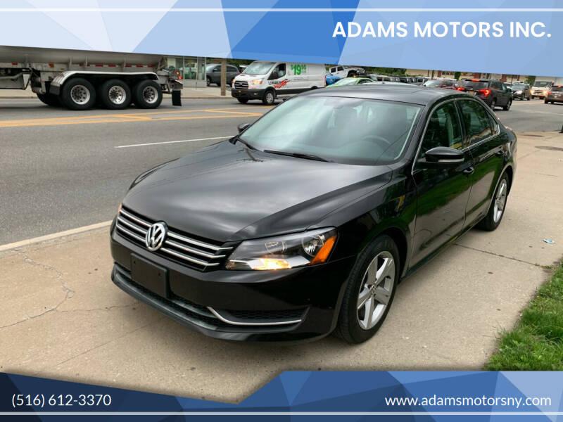 2013 Volkswagen Passat for sale at Adams Motors INC. in Inwood NY
