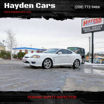 2006 Hyundai Tiburon for sale at Hayden Cars in Coeur D Alene ID