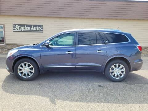 2013 Buick Enclave for sale at STAPLES AUTO SALES in Staples MN