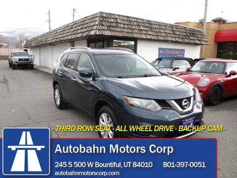 2015 Nissan Rogue for sale at Autobahn Motors Corp in Bountiful UT