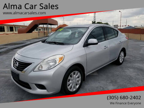 2014 Nissan Versa for sale at Alma Car Sales in Miami FL