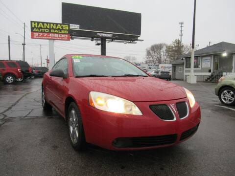 2006 Pontiac G6 for sale at Hanna's Auto Sales in Indianapolis IN