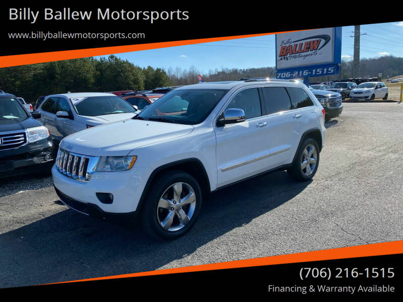 2013 Jeep Grand Cherokee for sale at Billy Ballew Motorsports in Dawsonville GA