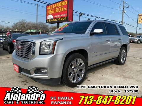 2015 GMC Yukon for sale at Alejandro Cars & Trucks in Houston TX