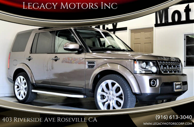 2016 Land Rover LR4 for sale at Legacy Motors Inc in Roseville CA