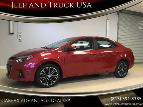2015 Toyota Corolla for sale at Jeep and Truck USA in Tampa FL