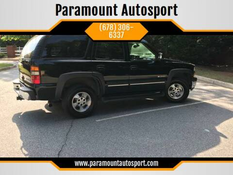 2003 Chevrolet Tahoe for sale at Paramount Autosport in Kennesaw GA