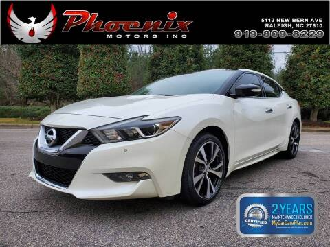 2016 Nissan Maxima for sale at Phoenix Motors Inc in Raleigh NC