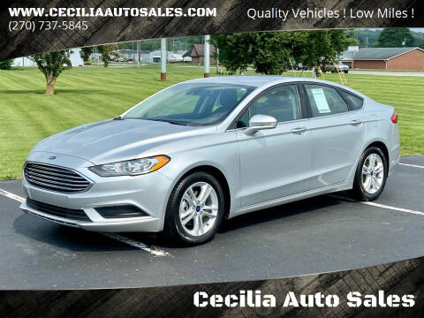 2018 Ford Fusion for sale at Cecilia Auto Sales in Elizabethtown KY