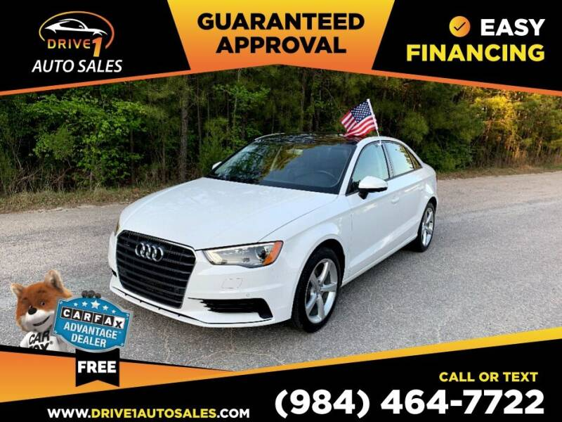 2016 Audi A3 for sale at Drive 1 Auto Sales in Wake Forest NC