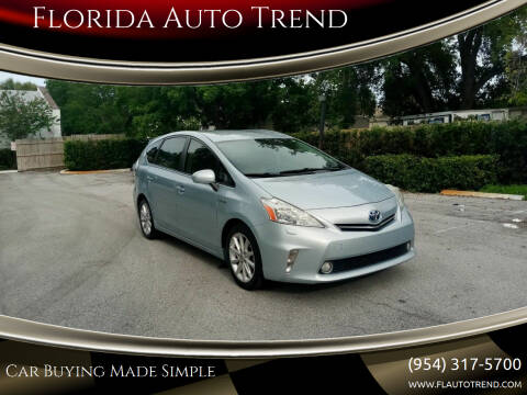2012 Toyota Prius v for sale at Florida Auto Trend in Plantation FL