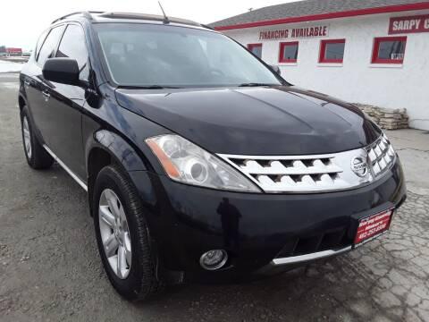 2007 Nissan Murano for sale at Sarpy County Motors in Springfield NE