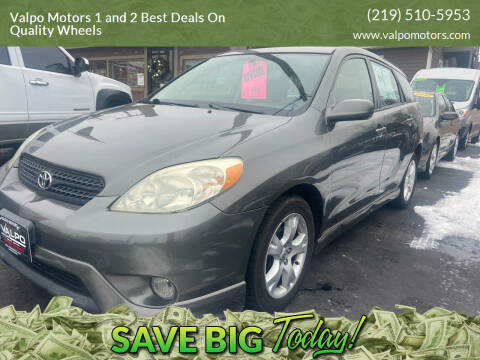 2006 Toyota Matrix for sale at Valpo Motors 1 and 2  Best Deals On Quality Wheels in Valparaiso IN