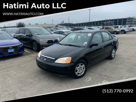 2002 Honda Civic for sale at Hatimi Auto LLC in Buda TX